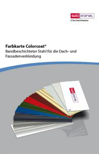 SAB Colorcoat Farbkarte